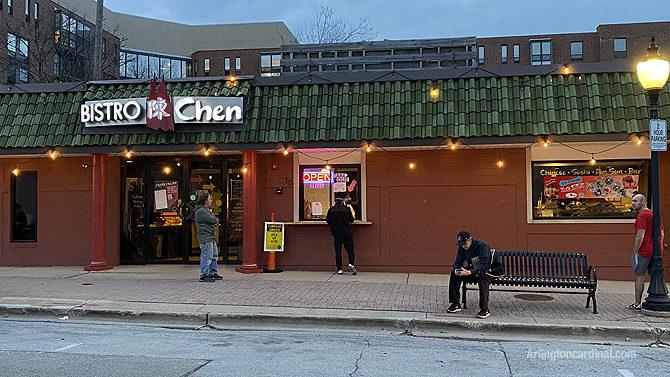 Social distancing at Bistro Chen, 10 East Miner Street, Arlington Heights